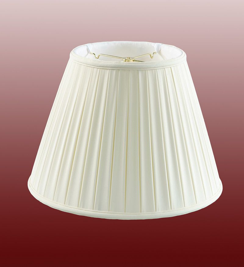 Buy A 18 Quot White Empire Box Pleat Shantung Shade Part 20560